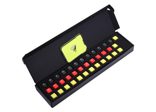 镭拓(Rantopad)KT三色彩虹键帽德国配色37键版